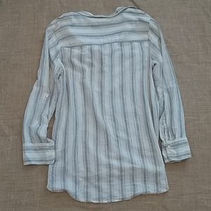 Anthropologie Lilka Striped Oversized Buttonup